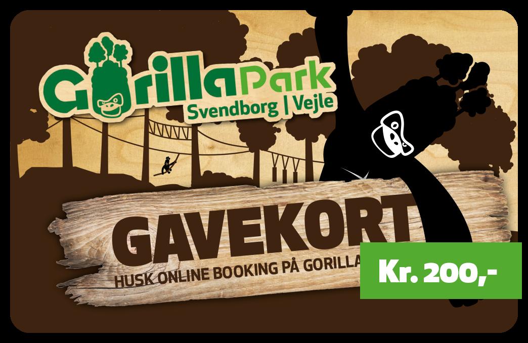 Gavekort, 200 kr